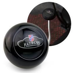 VW Karmann Ghia Crest Black Gear Shift Knob M10 for Volkswagen Sedan & Vert - Part Number: LABSN4R