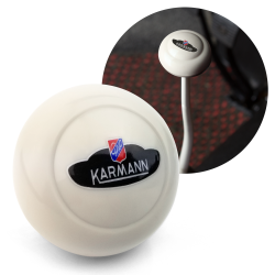 VW Karmann Ghia Crest Ivory Gear Shift Knob M10 for Volkswagen Sedan & Vert - Part Number: LABSN5R