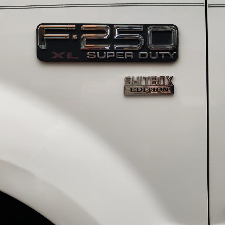 """UltraEmblem """"Shitbox Edition"""" Fender Emblem"""