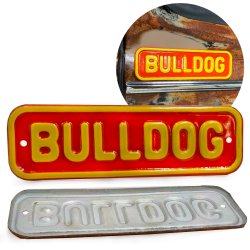 BullDog Emblem Plate for Hot Rods Rat Rods Street Rods Muscle Cars Trucks - Part Number: VPAE53