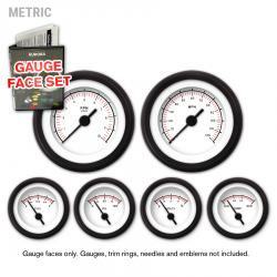 Gauge Face Set - Metric VX Light Gray - Part Number: GARFM049
