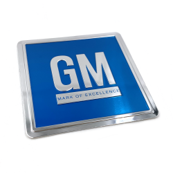 1968 - 1982 Chevrolet Door Jam GM Mark of Excellence BLUE Decal Chevy - Each - Part Number: STICKER22