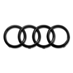 Audi Rings Front Grille Hood Emblem Gloss Black Badge A1 A3 A4 S4 A5 S5 A6 S6 TT - Part Number: OEPE030