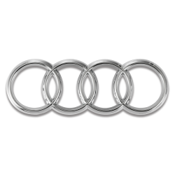 Audi Rings Chrome Front Grille Emblem Badge A1 A3 A4 A5 A6 S3 S4 S5 S6 SQ7 TT - Part Number: OEPE029
