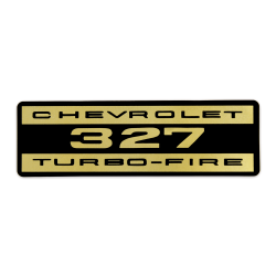 Chevrolet Turbo-Fire 327 Engine Valve Cover Decal Sticker - Part Number: VPASTKR006