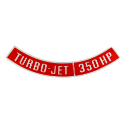 Chevrolet Turbo Jet 350 HP Air Cleaner Emblem like factory Decal fits 1967-1970 - Part Number: VPASTKR007