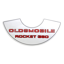 """Rocket 350"" Air Cleaner Decal fits 1969-1972 Olds Cutlass Delta 88 350 2 barrel - Part Number: VPASTKR012"