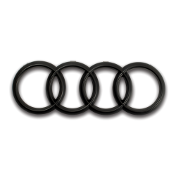 Audi Front Rings Matte Black Grille Emblem for A1 A3 A4 A5 A6 S3 S4 S5 S6 SQ7 TT - Part Number: OEPE028