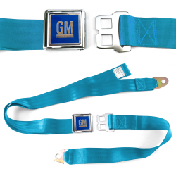 GM Mark of Excellence Electric Blue Lap Seat Belt Chrome Buckle fits RS SS V8 - Part Number: STBED6E1