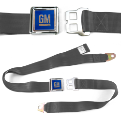 GM Mark of Excellence Charcoal Lap Seat Belt Chrome Buckle fits SS Hardtop V8 - Part Number: STBED6E2