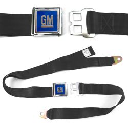 GM Mark of Excellence Black Lap Seat Belt Chrome Lift Buckle fits SS Hardtop V8 - Part Number: STBED6DE