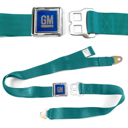 GM Mark of Excellence Aqua Lap Seat Belt Chrome Buckle fits SS Hardtop V8 - Part Number: STBED6DF