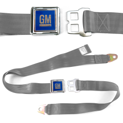 GM Mark of Excellence Grey/Gray Lap Seat Belt Chrome Buckle fits SS Hardtop V8 - Part Number: STBED6E3