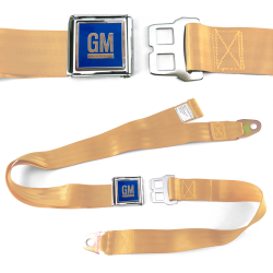 GM Mark of Excellence Peach Lap Seat Belt Chrome Buckle fits SS Hardtop V8 - Part Number: STBED6E5