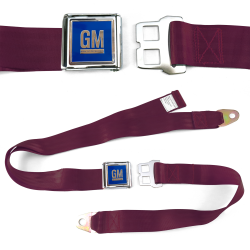 GM Mark of Excellence Burgundy Lap Seat Belt Chrome Buckle fits SS Hardtop V8 - Part Number: STBED6E0