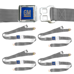 GM Mark of Excellence Gray/Grey Lap Seat Belt fits SS Hardtop V8 Set of Four - Part Number: STBED6F9