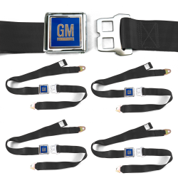 GM Mark of Excellence Black Lap Seat Belt Buckle fits SS Hardtop V8 Set of Four - Part Number: STBED6F4