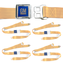 GM Mark of Excellence Peach Lap Seat Belt Buckle fits SS Hardtop V8 Set of Four - Part Number: STBED6FB