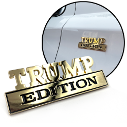 Trump Edition Emblem Gold Badge Car Truck SUV Ford Chevy Presidential Series  - Part Number: AUTFGE16
