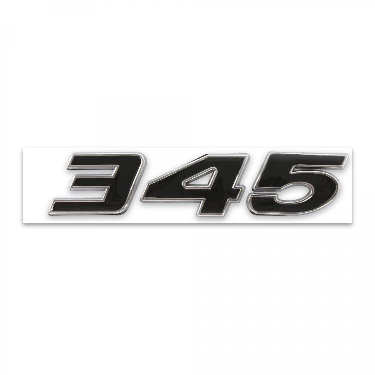 345 HOOD SCOOP FENDER TRUNK ENGINE ID EMBLEMS SET BLACK FITS DODGE CHRYSLER