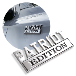 "The Original ""PATRIOT"" Edition Tailgate Door Fender Emblem for Cars Trucks Vans  - Part Number: AUTFGE12"