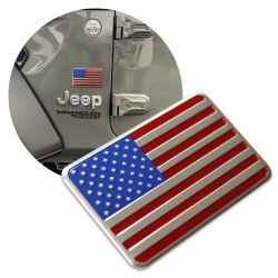 3D METAL Full Color American Flag Sticker Decal Emblem for Cars & Trucks - Part Number: VPAE67