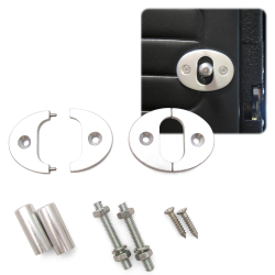 Billet Knob Set With Plates For Bear Claw Latches - Part Number: AUTBCKNOB