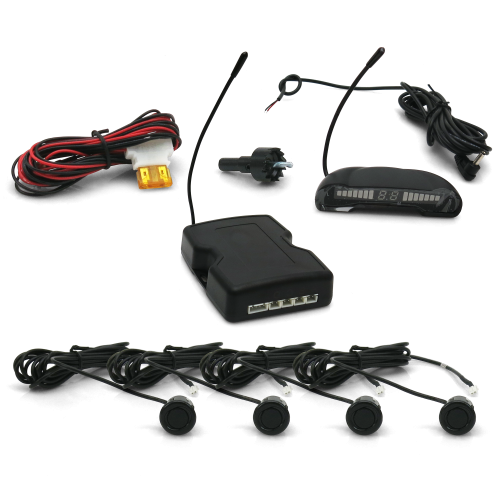 Front and Rear 8 Sensor Back Up Sensor System with Lcd Display instructions, warranty, rebate
